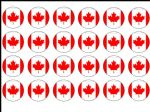 24 x Canada edible wafer paper bun cup cake toppers